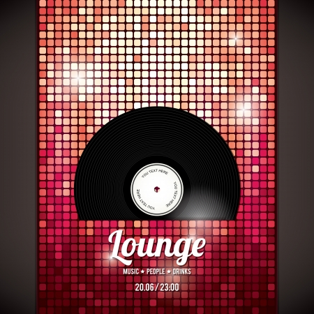 Illustration for Party flyer   Abstract background - Royalty Free Image