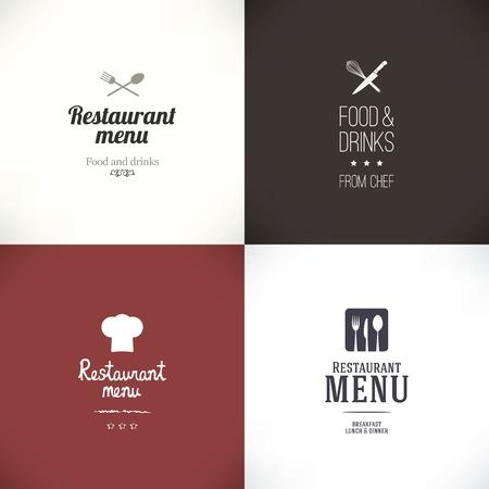 Illustration pour Label set for restaurant and cafe - image libre de droit