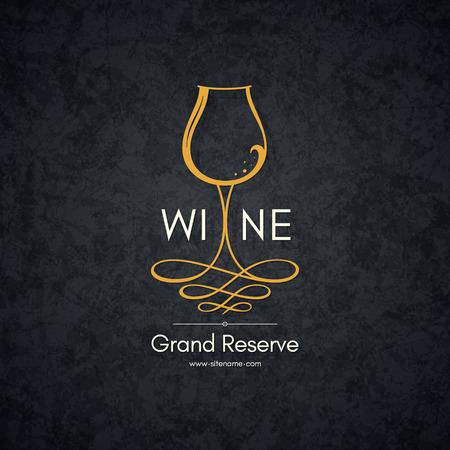 Illustration pour Logotype for wine shop, winery, wine list, restaurant - image libre de droit