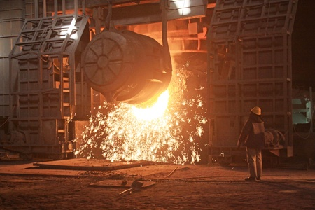 steelmaking furnace in a factory in china