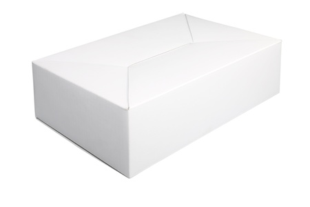 a paper box on the white background