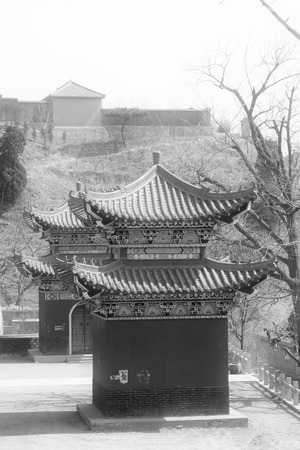temple landscape architecture, Chinese traditional architectural style, north china