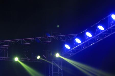 stage lights and metal frame