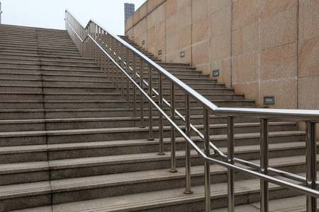 Stainless steel handrails and steps