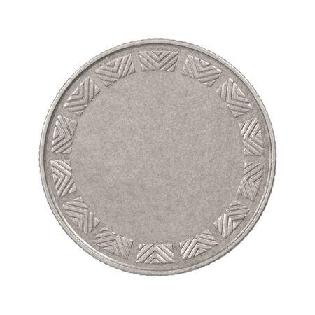 Photo pour Empty silver coin - image libre de droit
