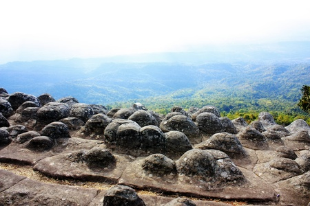 Viewpoint at Laan Hin Pum,Phu Hin Rong Kla National Park, Phitsanulok, Thailand.