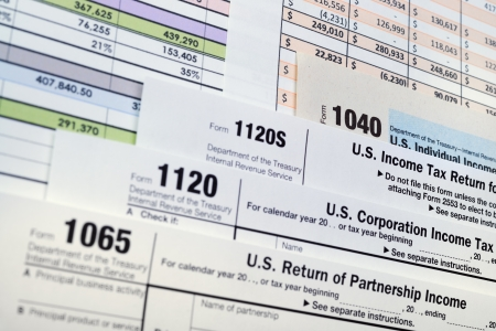 U S  Income Tax Return forms 1040,1065,1120
