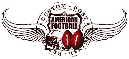 american football post with wings