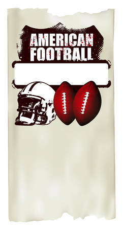 american football poster with old paper background