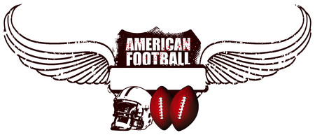 american football shield with wings
