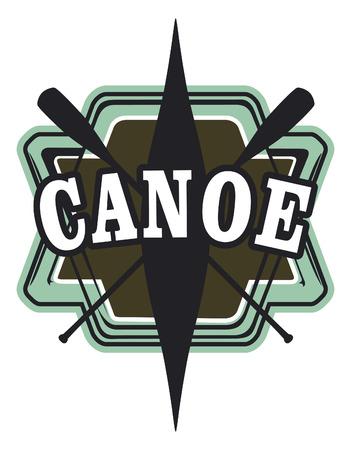 vintage canoe shield