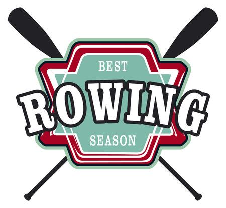 vintage rowing shield