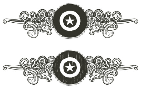 vintage shield with star shape