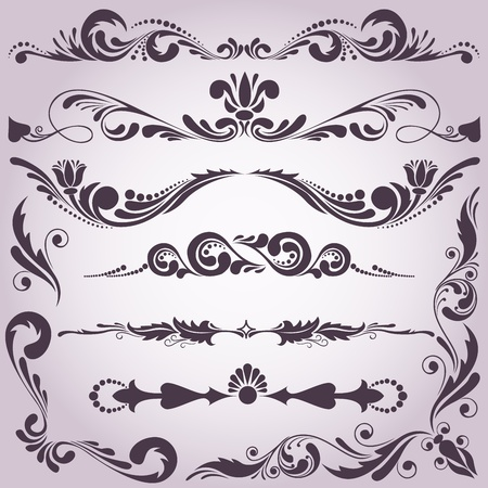 collection of vintage decorative elements for your design