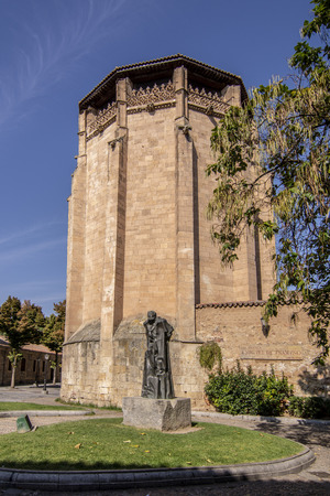Salamanca, Spain; September 2018: Statue of Miguel de Unamuno, Salamanca, made in 1968, in Bordadores Street, opposite the Convent of St. Ursula and front of the house where he lived and died.
