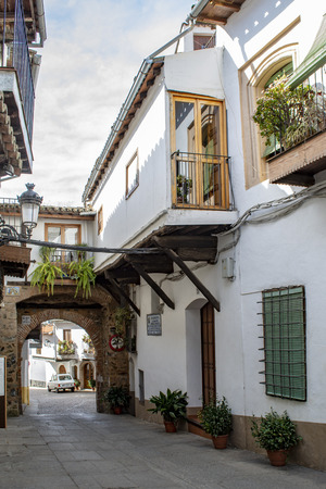 Guadalupe, Caceres, Spain; February 2015: typical houses of the village of Guadalupe in the province of Caceres