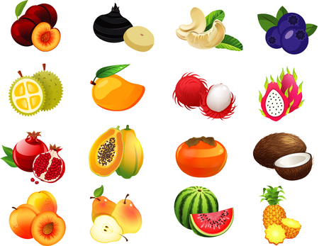Illustration pour Fruits Set1 - image libre de droit