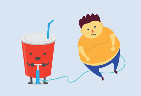 Soft drink make you fat fast with air pump