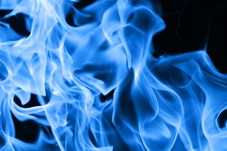 Blue flames of fire background texture