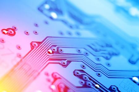 Photo pour Circuit board abstract background texture. Macro close-up. - image libre de droit
