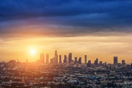 Sunrise over Los Angeles cit