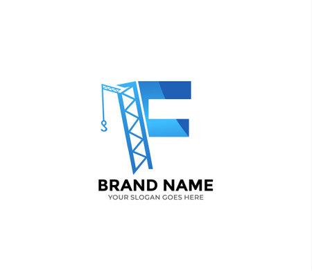 Illustration pour F construction Logo Design Concept - image libre de droit