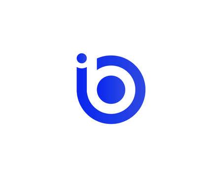 Illustration pour IB BI LETTER LOGO DESIGN VECTOR TEMPLATE. IB BI LOGO DESIGN. - image libre de droit