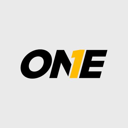 Illustration pour Number One Typography Symbol Design - image libre de droit