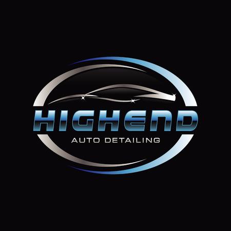 Illustration for Car Auto Detail Logo Symbol - Royalty Free Image