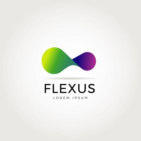 Illustration pour Abstract Flexible Logo Symbol Icon - image libre de droit