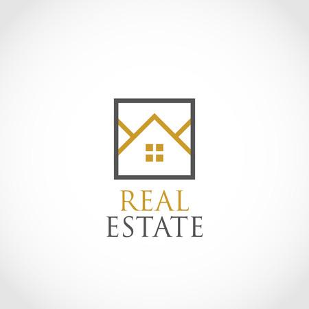 Illustration for Simple Real Estate Logo Symbol - Royalty Free Image