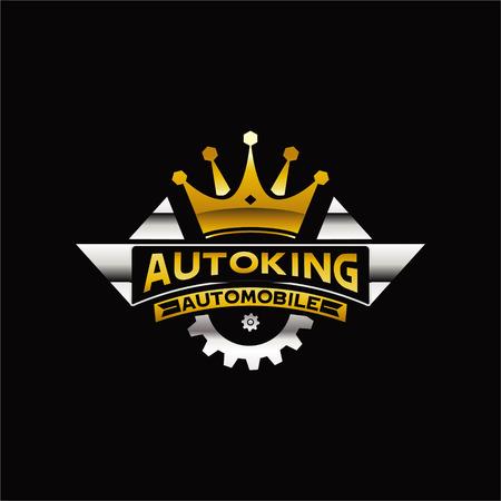 Illustration for King Automobile Logo Sign Symbol Icon - Royalty Free Image