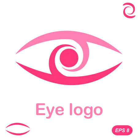 Eye logo conception, 2d flat illustration
