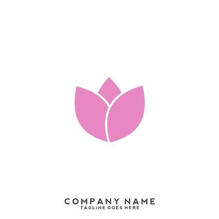 Illustration pour Lotus flower logo with human silhouette - image libre de droit