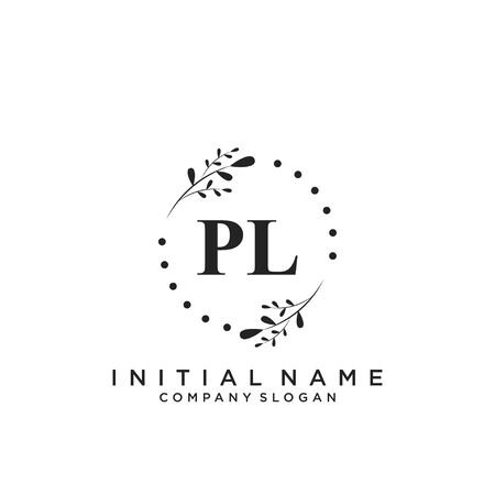 Letter PL Beauty Logo Template Vector