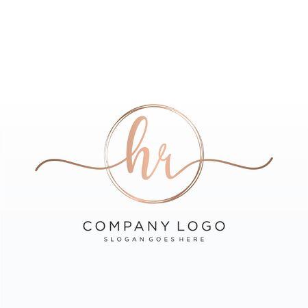 Illustration pour Initial handwriting logo design Beautiful design handwritten logo for fashion, team, wedding, luxury logo. - image libre de droit