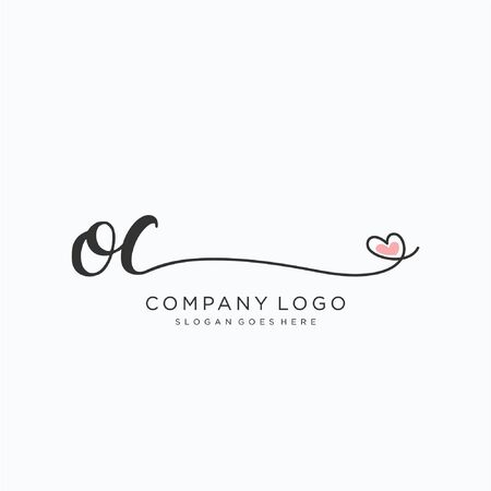 OC Initial handwriting logo design Beautyful designhandwritten logo for fashion, team, wedding, luxury logo.