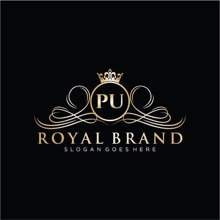 Initial handwriting  design Beautiful design handwritten  for fashion, team, wedding, luxury .