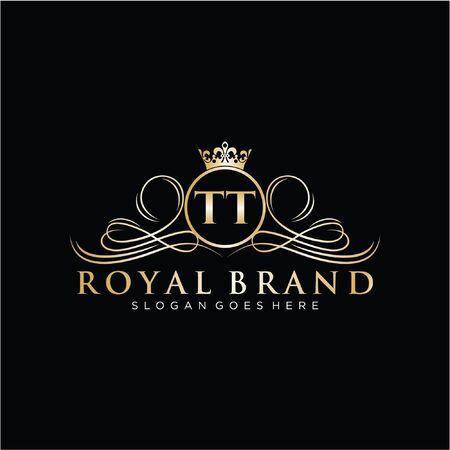 Illustration for Initial handwriting logo design. Beautiful design logo for fashion, team, wedding, luxury logo. - Royalty Free Image