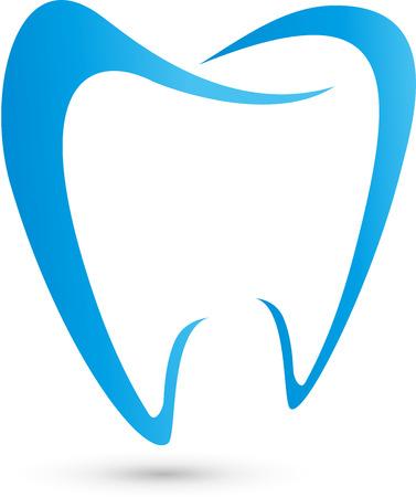 Ilustración de Logo for dentists, dental, tooth - Imagen libre de derechos