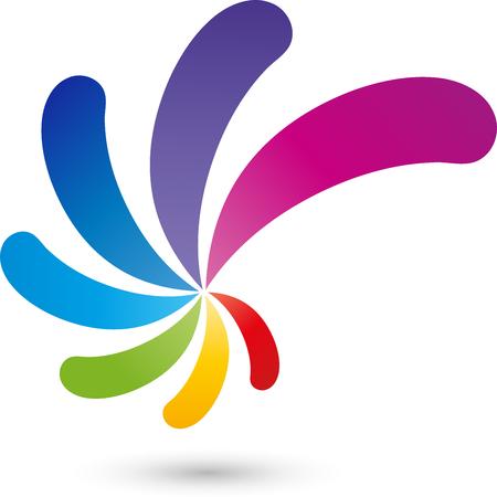 Illustration for Spiral Logo, Multimedia, colored - Royalty Free Image
