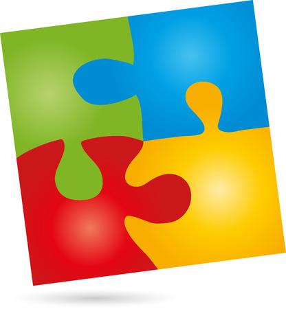 Puzzle, game,    Square