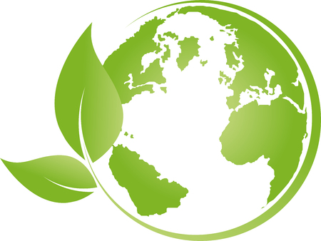 Illustration pour Earth, globe, world globe, recycling, leaves - image libre de droit