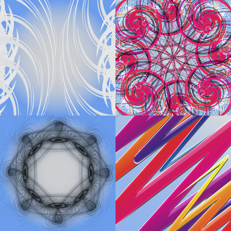 Set of Abstract Rainbow concept background. Vector illustration