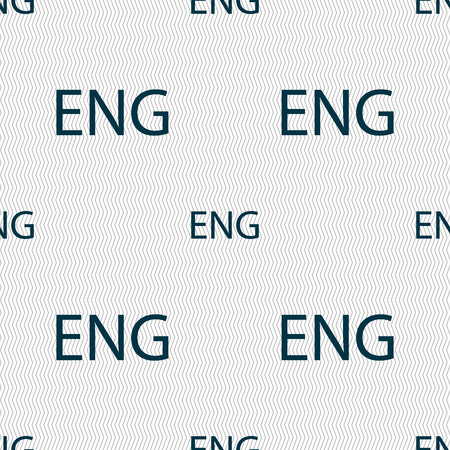 English sign icon. Great Britain symbol. Seamless abstract background with geometric shapes. illustration