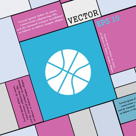 Ilustración de Basketball icon sign. Modern flat style for your design. Vector illustration - Imagen libre de derechos