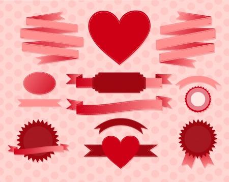 Ilustración de valentine s day ribbons - Imagen libre de derechos
