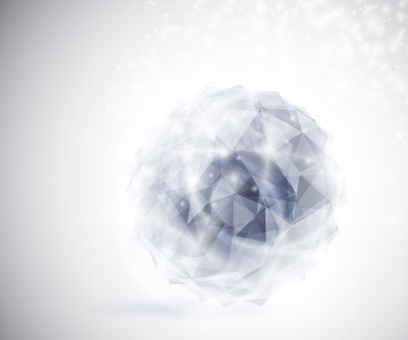 Precious crystal in the shape a sphere  Eps 10