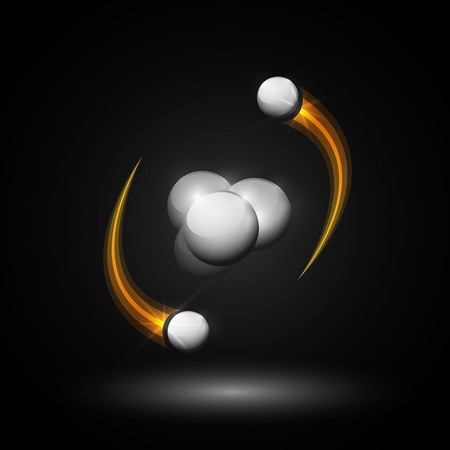 Abstract image of helium atom  Eps 10