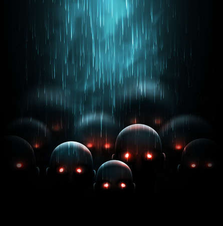 Zombie apocalypse, mystic background